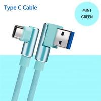 90 grad Rechtwinklig USB Typ C Kabel Für huawei Ehre 20 10 V30 9 8 hinweis 8 10 spielen nintendo Switch game ladegerät kabel Kabel