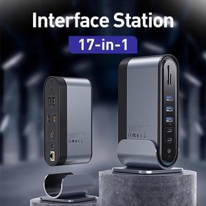 Image 3 - Baseus 17 in 1 USB C HUB Tipo C a HDMI RJ45 VGA USB 3.0 PD Adattatore di Alimentazione Docking stazione di per MacBook Pro Laptop USB C Hub