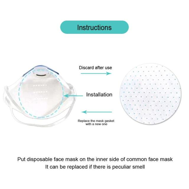 Unisex High Efficiency Filter Non-woven Anti Bacteria Proof Flu Face Masks Carbon Filter Windproof Mouth-muffle Masks 2