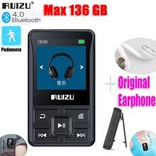 أحدث الأصلي RUIZU X55 الرياضة بلوتوث مشغل MP3 8gb كليب صغير مع حامل شاشة FM ، تسجيل ، الكتاب الإلكتروني ، على مدار الساعة ، عداد الخطى