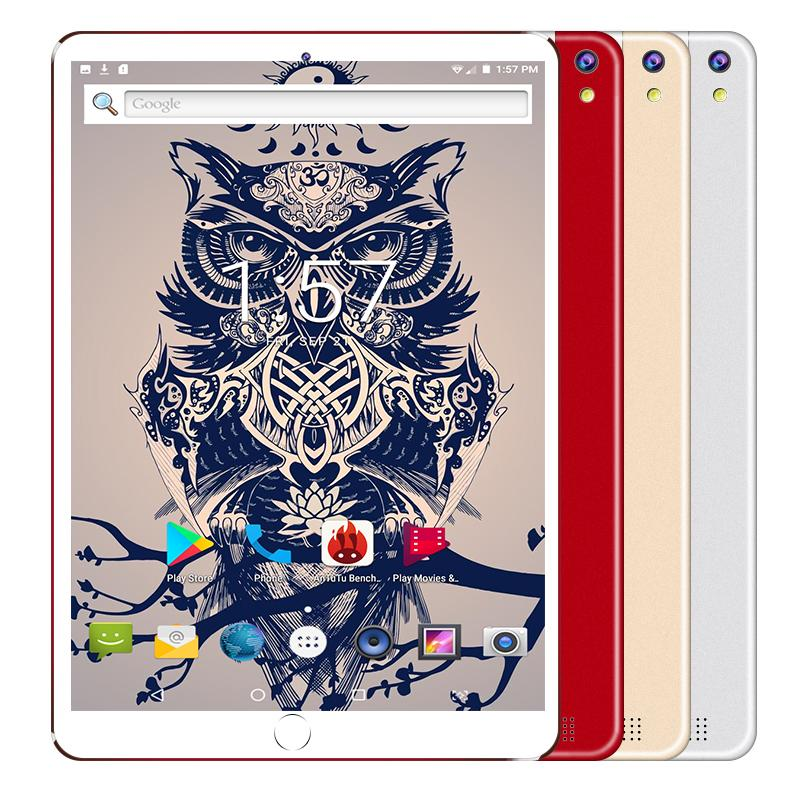 2020 New Google Play Android 8.0 OS 10.1 Inch Tablet Octa Core 6GB RAM 128GB ROM 1280*800 IPS 4G Call Phone Kids Tablets 10 10.1