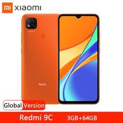 Глобальная версия смартфона Xiaomi Redmi 9C, 3 ГБ, 64 ГБ, Helio G35, Восьмиядерный, 6,53 дюймов, дисплей DotDrop, 13 МП, задняя камера, 5000 мАч