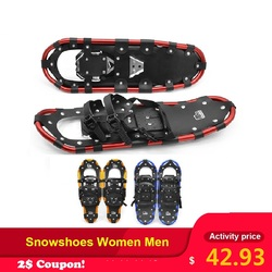 Outdoor Snowshoes Women Men with Adjustable Bindings Carrying Tote Bag Practical Durable For Women Men 25 /27 /29 inch 3 Colors