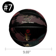 Basketball Ball Official Size 7 For Boyfriend Gifts Rose Pattern PU Leather Recreation Outdoor Indoor Match Training Team Sport