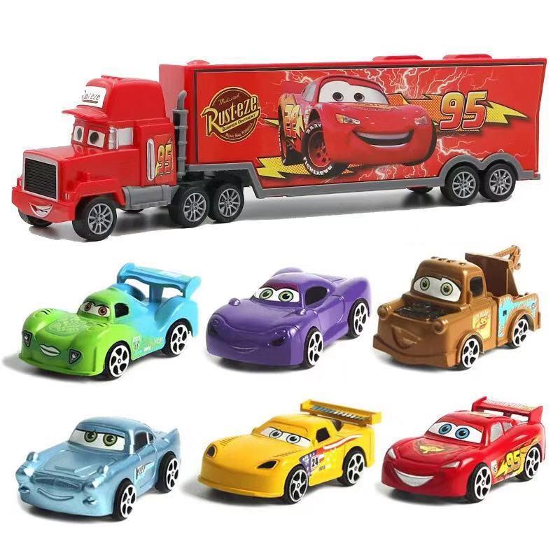 7 шт. Дисней Pixar тачки 3 Молния Маккуин Джексон шторм Круз Мак дядюшка грузовик 1:55 литая под давлением модель автомобиля для детей Рождественский подарок