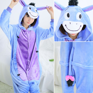 Image 2 - Kigurumi Stitch Long Sleeve Onesie For Adult pajamas women winter plus size Kegurumi Homewear Warm Homewear Cute Animal Pajamas