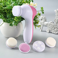 5 in 1 Facial Cleaning Brush Silicone Facial Brush Deep Cleansing Pores Cleaner Facial Massage Skin Care Facial Brush 3