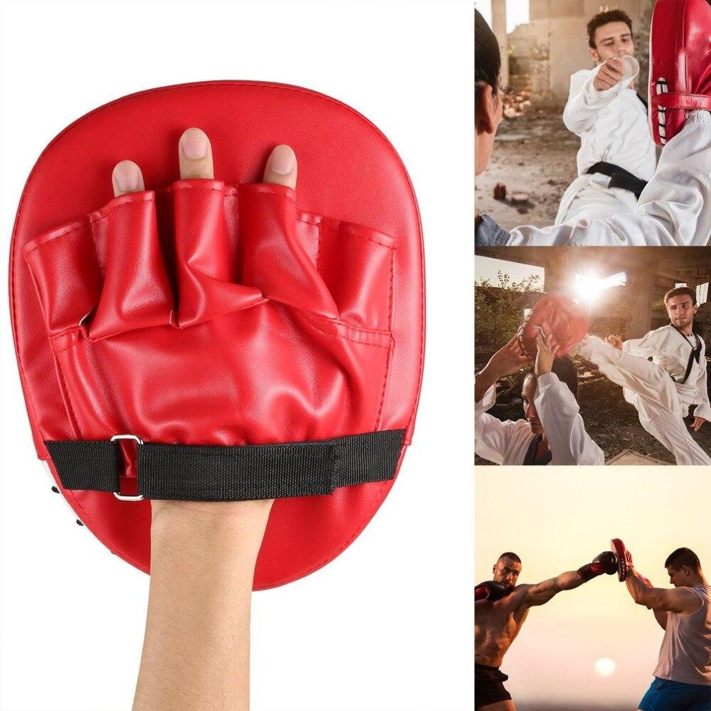 Guantes De Boxeo Rojo Negro Almohadilla Cuero Espuma Bóxer Para Kick Boxing MMA
