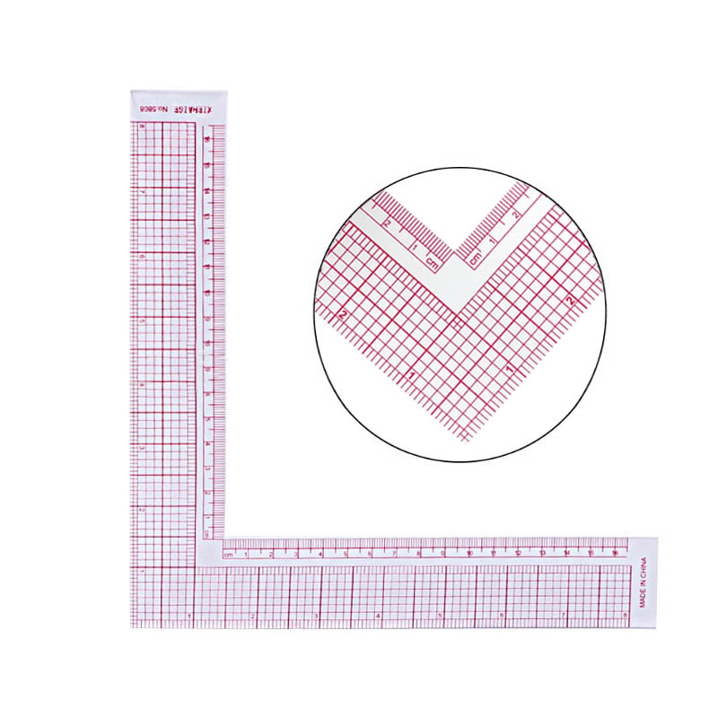 Garment Cutting Plastic Quilting Ruler For Sewing Accessories Patchwork Tools Tailor Craft Scale Rule Drawing Supplies L Shape(China)