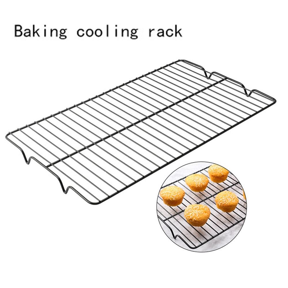 Подставка для сушки хлеба для печенья прочная легкая Чистящая охлаждающая стойка из высокоуглеродистой стали проволочная сетка Инструменты для выпечки антипригарный домашний прямоугольник