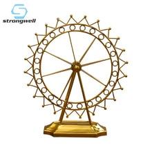 Strongwell Ferris Wheel Figurine Iron Crafts Vintage Home Decor Desktop Decoration Accessories Creative Couple Gift