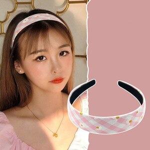 Mode mignon impression Daisy fleur lunette anti-dérapant bandeaux cheveux cerceau bandes femmes bandeau rétro coiffure filles cheveux accessoires