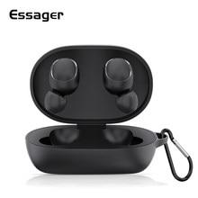 Étui pour écouteurs Essager pour Coque Redmi AirDots housse de protection en Silicone Funda pour accessoires Xiaomi Mi Air Dots avec porte-clés