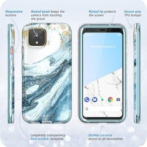 Image 5 - Voor Google Pixel 4 XL Case 6.3 inch (2019) i BLASON Cosmo Full Body Glitter Marmer Bumper Case met Ingebouwde Screen Protector