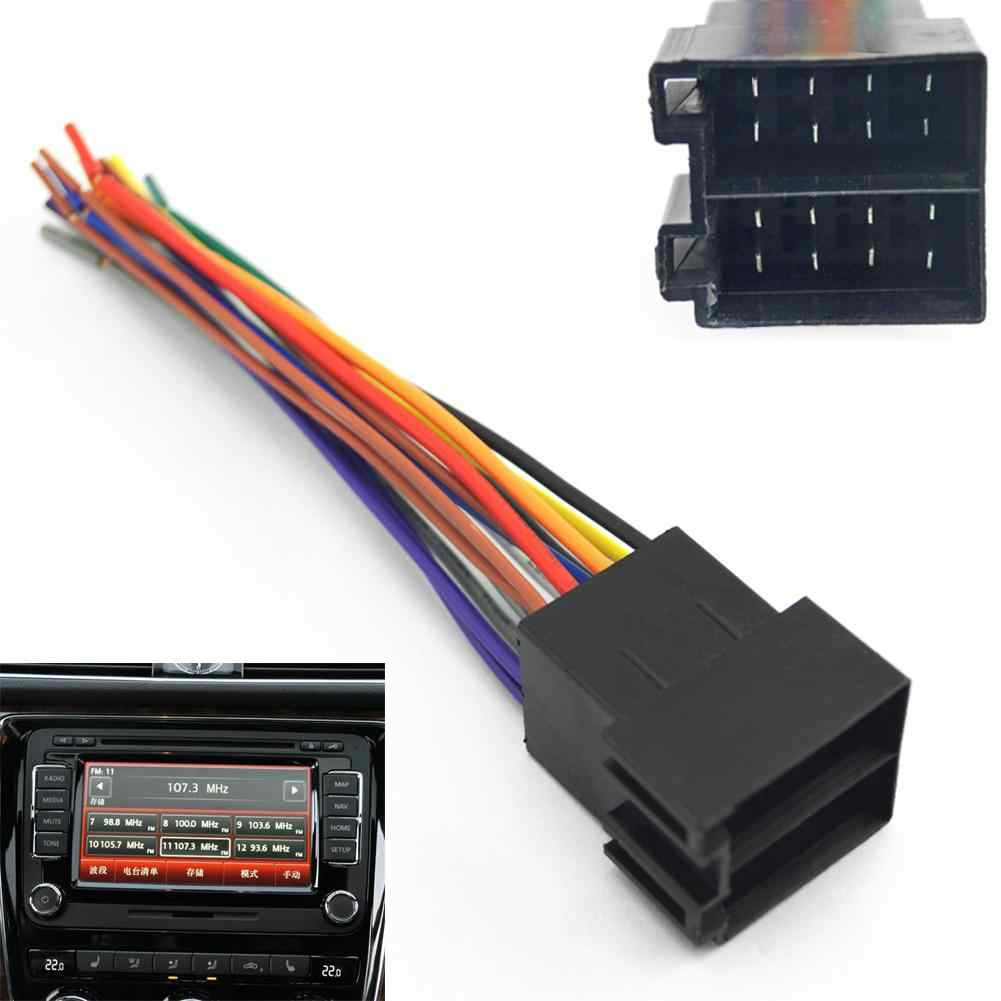 HiMISS Universal Male ISO Radio Wire Wiring Harness Adapter Connector Car Adaptor Plug for Volkswagen/Citroen/Audi