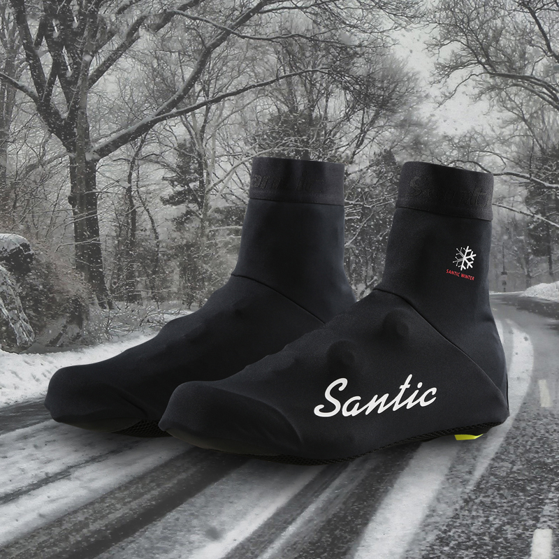 Santic Cycling Thermal Shoes Cover Winter <font><b>Bike</b></font> Bicycle Road MTB Shoes Protector Windproof MTB <font><b>Bike</b></font> <font><b>Equipment</b></font> Overshoe image
