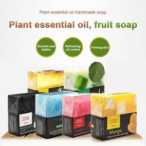 Тайское фруктовое мыло, натуральный розовый бамбуковый уголь, увлажняющий отшелушивающий для рук Очищающий Мыло для ванны TSLM1