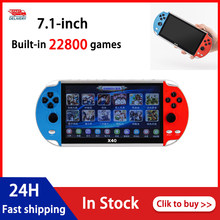 X40 handheld game console 7 Polegada ortable console de jogos de vídeo retro consolas apoio tf cartão consolas videojuegos