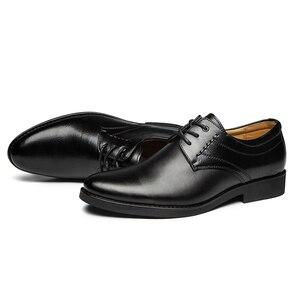 Image 2 - 2020 נעליים רשמיות גברים עגול הבוהן גברים שמלת נעלי עור גברים אוקספורד נעלי גברים אופנה שמלה הנעלה