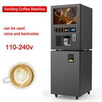 Coin-operated Кофеварка GTS204 торговый кофе машина коммерческий автоматический горячий/холодный напиток молоко чай машина для торгового центра/ки...