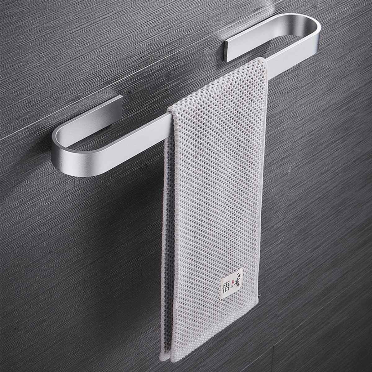Space Aluminum Alloy Towel Holder Wall Mounted Hanger Organizer Waterproof Bathroom Kitchen Storage Rack Shelf Accessories