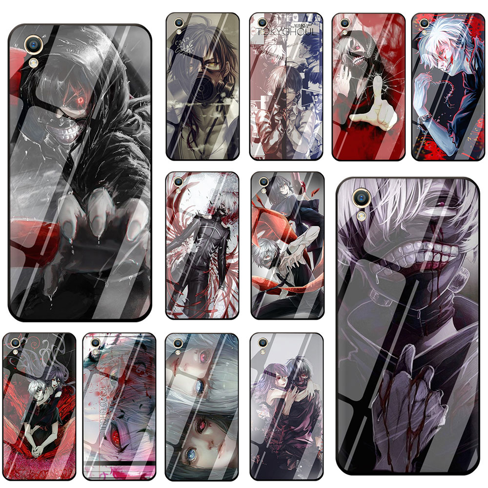 Japanese anime Tokyo Ghoul Japan Tempered <font><b>Glass</b></font> Phone Cover <font><b>Case</b></font> For <font><b>OPPO</b></font> Reno Realme <font><b>A3S</b></font> A5 A1K A9 A37 A57 A59 A73 A77 A83 F7 image