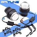 PTF LED Lenticular Nebel Licht 3,0 inch Bi-led Projektor Tuning Universal Bifokale Objektiv Wasserdichte Scheinwerfer Auto Lichter Zubehör