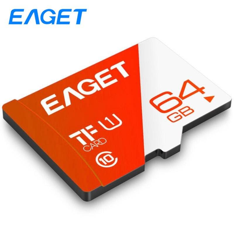 EAGET T1 Micro Sd Card 16GB 32GB 64GB 100Mb/s Memory Card 128GB 256GB Class10 UHS-1 Microsd TF Card Cartao De Memoria