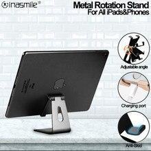 Kaliteli iPad standı için 9.7 10.2 10.5 12.9 inç Metal rotasyon Tablet masaüstü tutucu Samsung Xiaomi Huawei telefonu tablet