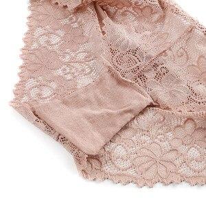 Image 5 - 3 יח\חבילה פרחוני תחתונים סקסיים לנשים של תחתוני רוקנו תחרה תחתוני קשת נמוך עלייה שקוף הלבשה תחתונה 3Xl בתוספת גודל נקבה