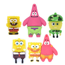 SpongeBob SquarePants Pena Drive 64GB 32GB 16GB 8GB 4GB Patrick Sta Kartun USB Flash Drive U Stick Flashdisk Anime Memory Stick(China)