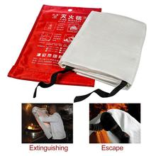 1.2mx1.2m Emergency Fire Blanket Quick Release In Case For Home Office Car Emergency Escape