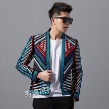 Hot Autumn Winter Blazer Men's New Fashion Handsome Jacket male Slim Suit Korean