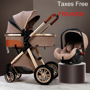 2020 New Baby Stroller 3 in 1 High Landscape Stroller Reclining Baby Carriage Foldable Stroller Baby Bassinet Puchair Newborn