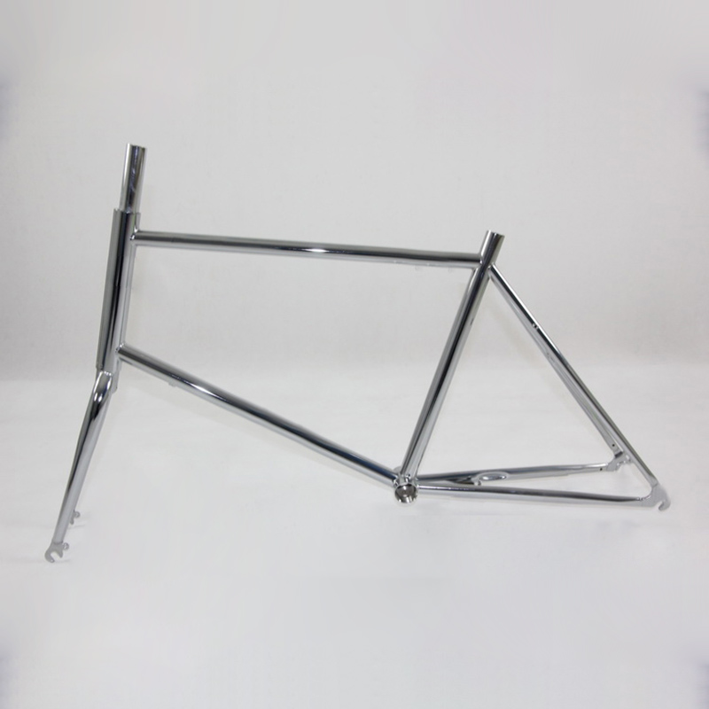 20 inch fixie Biike <font><b>frame</b></font> Fixed gear bike 700C 48cm track bike <font><b>FRAME</b></font> Road Bike with Front V brake image