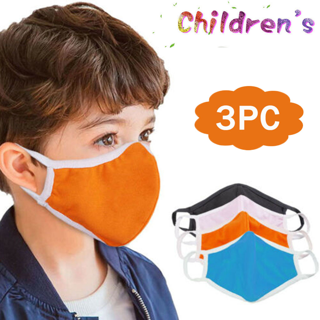 3pcs Kids Scraf maks Toddler Reusable Dustproof Outdoor Cotton Scrafs Face Maskswashable And Reusable maks Dropshipping maske
