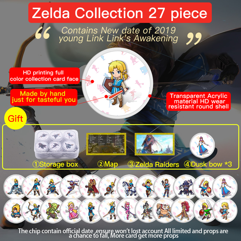 NTAG215 Zelda NFC Card Heart Wolf Revali Mipha Daruk Urbosa For Amiibo Card The Legend Of Breath Of The Wild NS Switch Amiibo