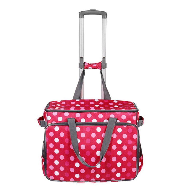 Portable Large Sewing Machine Trolley Bag Rolling Sewing Accessories Storage Bag with Pockets and Handles Organizador