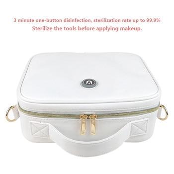 Portable USB Rechargeable UV Sterilization LED UV Beauty Tool Toothbrush Jewelry Sterilization Bag Daily Capacity Storage Bag