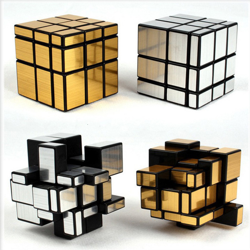 3x3x3 Gold Silver Neo Magic Mirror Cube Professional Speed Cubes Puzzles Speedcube Educational Toys For Children Adults Gifts