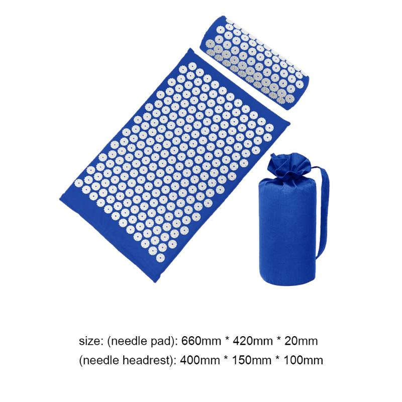 Acupressure Massage Mat with Pillow set to body Relaxation to Release Stress and Tension 42