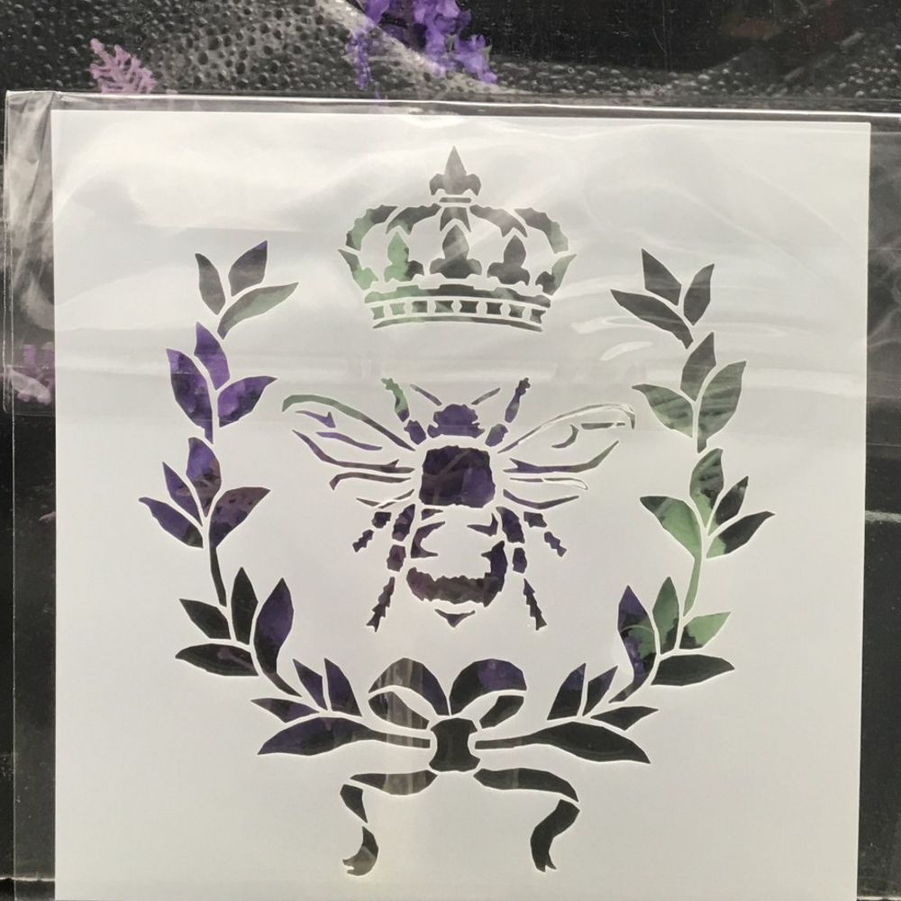 13cm Bee Crown DIY Layering Stencils Wall Painting Scrapbook Coloring Embossing Album Decorative Card Template(China)