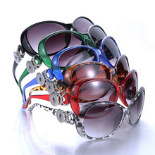 5 Colors Boom Life Snap Button Sunglasses Retro Oval Glasses Eyewear Sunglasses Fit 18mm