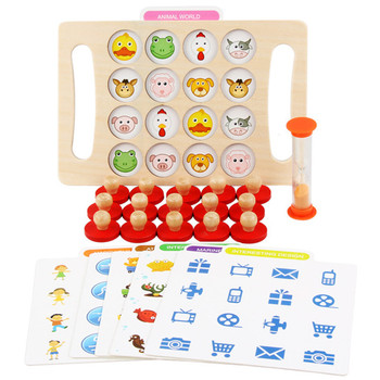 Kids Wooden Memory Stick Match Chess Game Baby Early Educational Toys Puzzles Training Family Party Board Game for Children kids desktop game fruit stick educational toys board game party game toys for children parent offspring