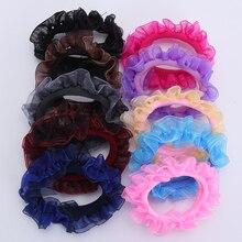 10 Pieces New Girls Hair Scrunchies Lace Kids Elastic Bands Children Ponytail Holder Women  Tie Accessories
