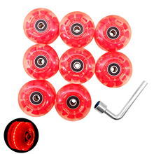 8pcs Skateboard With Core Bearing 32mmx58mm Roller Skate Wheel Outdoor 82A Wear Resistant Replacement Part Durable LED Luminous
