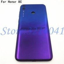 """Оригинальный Новый чехол 6,26 """"для Huawei Honor 8C, задняя крышка аккумулятора, боковые кнопки питания, стеклянный объектив, вспышка, логотип"""