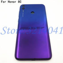 """Original New 6.26"""" For Huawei Honor 8C Back Battery Cover Case+Power Side Buttons+Glass Lens+Flash+Logo"""
