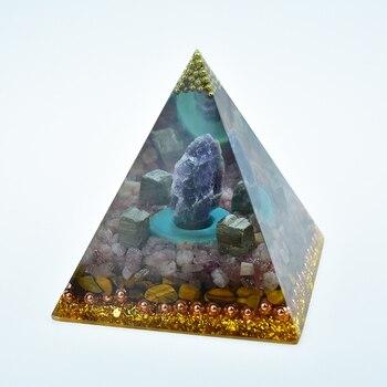 New Original Natural Crystal Amethyst Jewelry Decoration Ornaments Pyramid Energy Geometry Orgonite Yoga Meditation Healing