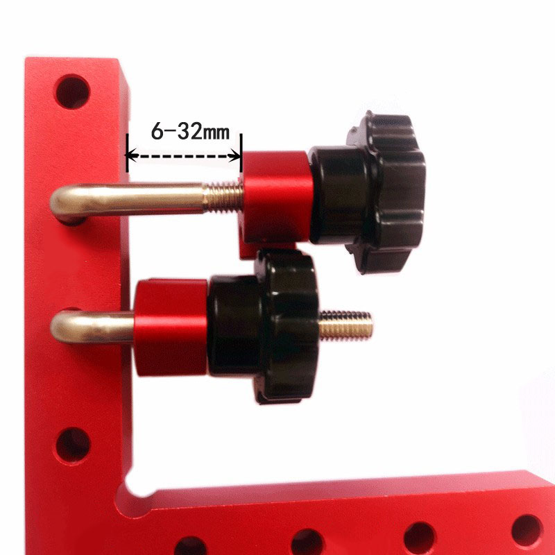 Image 3 - woodworking 90 degree L shaped auxiliary fixture Aluminum square  Positioning ruler measuring gauge wood carpenter DIY toolsHand Tool Sets   -